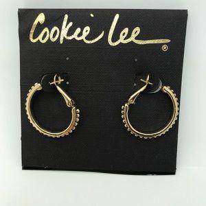 Cookie Lee Gold Tone Earring Hoops